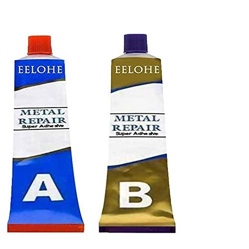 Juego de pasta de reparación de metal permanente 20/50/80 / 100g, Resistencia al calor industrial Materiales de soldadura en frío Pegamento AB Endurecedor de resina epoxi (100g)