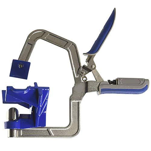 yestter Winkelzange aus Aluminiumlegierung 90 °, Werkzeug zur Anpassung des Holzes für Eckzange und Zange – für die Arbeit von Holz, Schweißen, Tischler (blau)