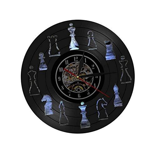 Mirabellinifred Reloj de ajedrez, figuras de ajedrez, arte de ajedrez, regalos de ajedrez, reloj de ajedrez, cuadros de ajedrez, regalos para profesores de niños y adultos, divertida decoración.