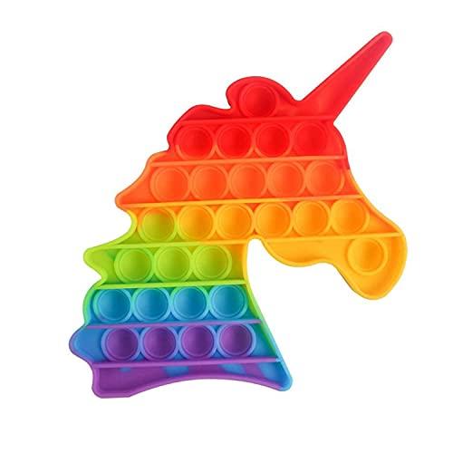 AURSTORE Jouets Anti-Stress - Fidget Toy- Pop Bubble - Jouets Sensoriels à Presser en Silicone pour la Concentration et Le Calme it (Licorne)