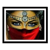 大人のためのDIY5Dダイヤモンド塗装キット フルダイヤモンドクリスタルラインストーン、家の壁の装飾のためのクラフトギフトが含まれています ラインストーン工芸品の絵画パターン写真仮面の女性75X55cm