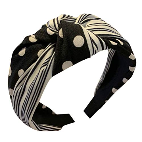 Dicomi Classica Estate Wave Point Headwrap Avvolgere Testa Fascia Bandana Capelli Estensibile Incrociarsi Turbante elastica accessorio per capelli Carina Cerchietto per Capelli