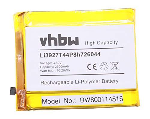 vhbw Li-Polymer Akku 2700mAh (3.85V) passend für Handy Smartphone Telefon ZTE Axon 7 Mini, 7 Mini Dual, B2017G