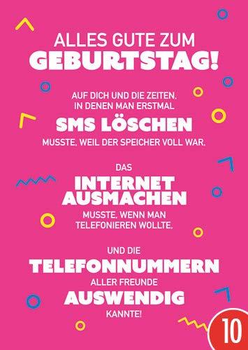 10er-Pack: Postkarte A6 +++ LUSTIG von modern times +++ SMS LÖSCHEN +++ MODERN TIMES © Kindheitserinnerungen ? Cobranded