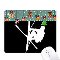スケートボーディング・ブラック・スポーツのシルエット ゲーム用スライドゴムのマウスパッドクリスマス