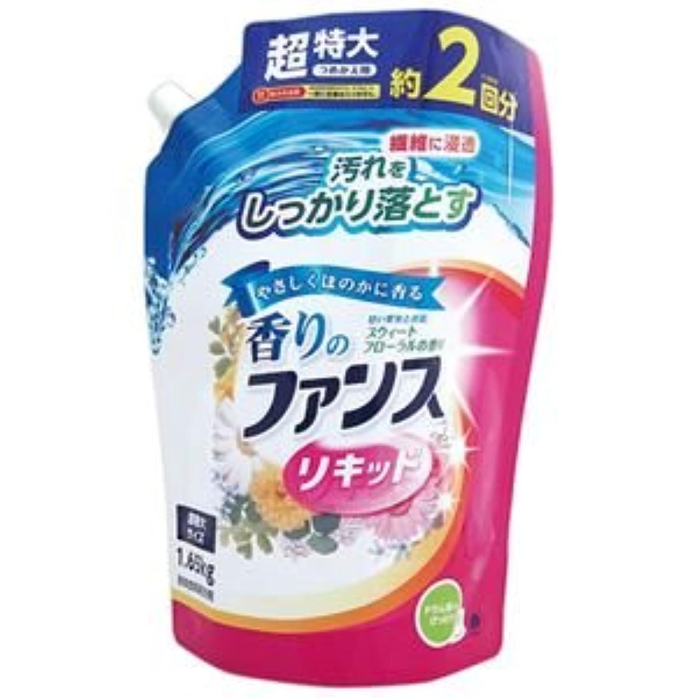 中世の世論調査本体(まとめ) 第一石鹸 香りのファンス 液体衣料用洗剤リキッド 詰替用 1.65kg 1セット(6個) 【×2セット】