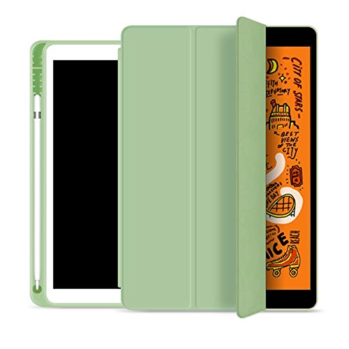 RZL PAD & TAB cases For iPad Air 3iPad 7th 8th Generation 10.2 10 2, Folding Folio Case with Pencil Holder for iPad Pro 10.5 9.7 2018 2017 (Color : Matcha, Size : Pro 10.5 2017)