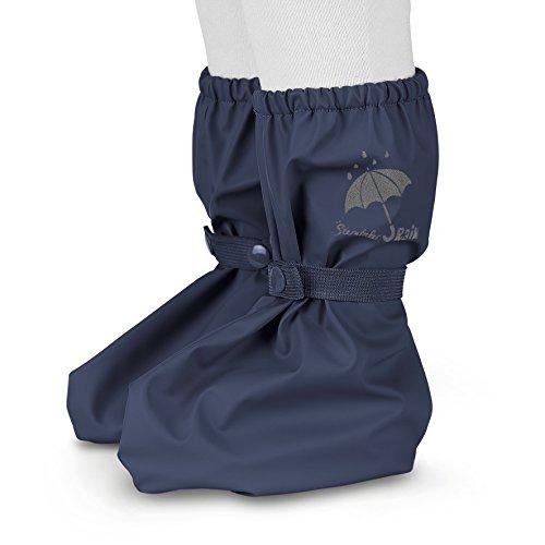 Sterntaler Unisex Baby Regen-Überschuh mit Druckknopf, Größe: One Size, Farbe: Blau (Marine), Art.-Nr.: 5651690, Alter: 0-12 Monate