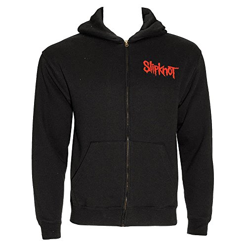 Slipknot Official Skull Teeth Zip Up Hoodie (Black)