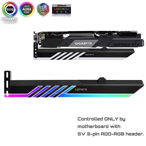 upHere 5V 3-pin Addressable RGB Graphics Card GPU Brace Support Holder,Support Video Card Sag Holder/Holster Bracket-GL28ARGB