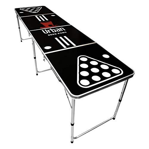"Beer Pong Tisch ""Premium"" mit Becherhalter Löchern   inkl. 50 Becher & 6 Bälle   Bier Pong Table Set inkl. praktischem Ballhalter"