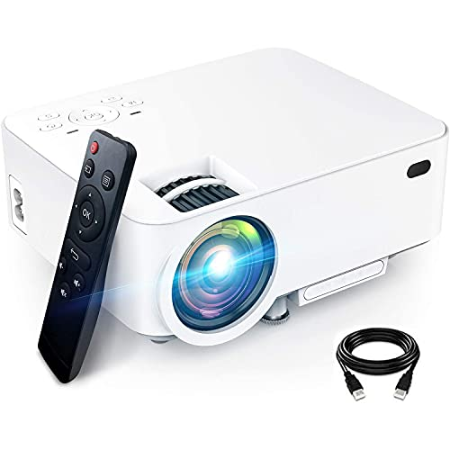 DOOK Proyector, 5500 Lúmenes Proyector de Video Soporta Full HD 1080P, Proyector Mini Compatible con TV Stick HDMI VGA USB TF AV para Cine en Casa y Películas al Aire Libre.