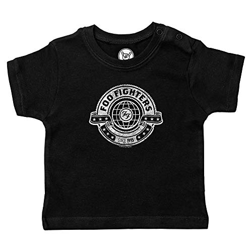 Metal Kids FOO Fighters (World) - Baby T-Shirt, schwarz, Größe 80/86 (12-24 Monate), offizielles Band-Merch