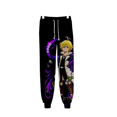 LILLIWEEN The Seven Deadly Sins Sweatpants Anime Joggers 3D Print Sports Pants Trousers S