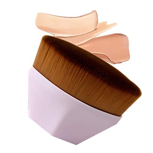 Pennello Fondotinta,Pennello per fondotinta a forma di petalo,Soft Touch Pennelli Make Up Fondotinta Per miscelare liquidi,Crema o Cosmetici in polvere impeccabili,Pennello Blush trucco (Rosa)
