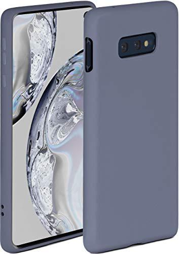 ONEFLOW Soft Hülle kompatibel mit Samsung Galaxy S10e Hülle aus Silikon, erhöhte Kante für Displayschutz, zweilagig, weiche Handyhülle - matt Blau Grau