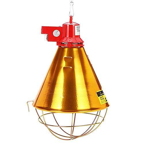 SUQIAOQIAO E27 175W Pet Heating Lampshade,Heat Lightshade for Pet Brooder Chicken Reptile Lampshade 220V Adjustable Switch for Farm Poultry