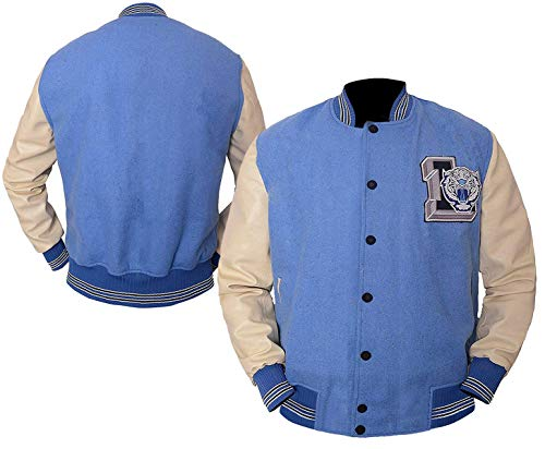 e_Genius 13 Reasons Why Liberty High Varsity Letterman Blouson bomber en laine - Bleu - Large