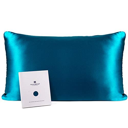 YANIBEST Seiden Kissenbezug für Haare und Haut, 21 Momme, Fadenzahl 600, 100% Maulbeerseide, Bettkissenbezug mit verstecktem Reißverschluss, 1 Packung