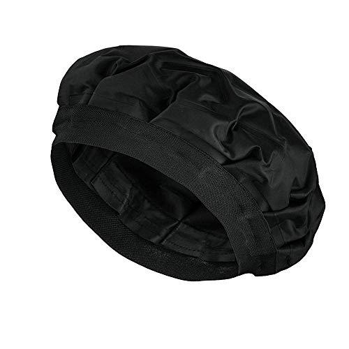 Deep Conditioning Heat Cap – Cordless Hair Steamer Deep Hair Treatment Cap Hair Styling and Treatment Steam Cap | Heat Therapy and Thermal Spa Hair Steamer Gel Cap - Black