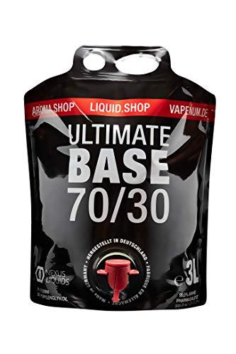 Ultimate Base 3L Bag-in-Box (BIB) - 70VG/30PG - Liquid Base Nikotinfrei - e Liquid Base 3000ml ohne Nikotin