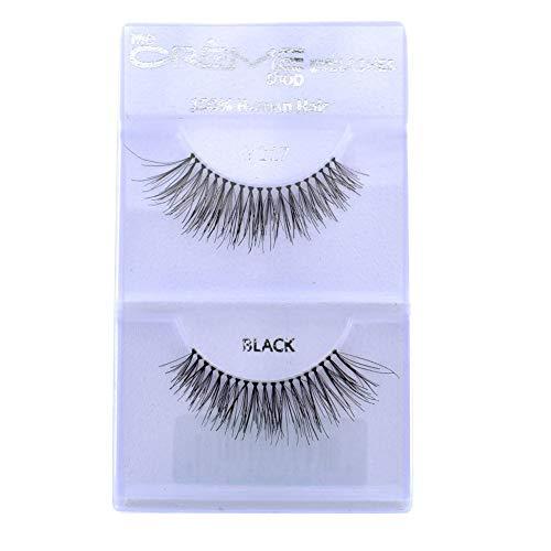 12 Pairs Crème 100% Human Hair Natural False Eyelash Extensions Black #217 Natural Lashes