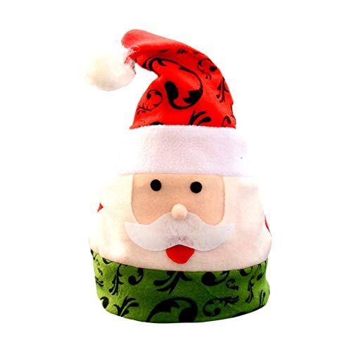 FSFG Adornos de Navidad Nuevos Sombreros de Navidad Adultos Niños Sombreros de Navidad Azul Lentejuelas Adornos de Navidad Cálido Regalos Nuevos Sombreros de Navidad Adultos Niños Sombreros de Navidad