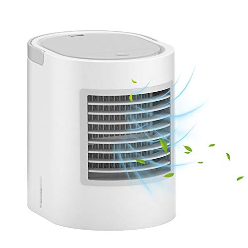 LuftküHler Mini Klimaanlage Tragbar,Womdee Air Cooler Mini,KlimageräT Mobil Air Cooler 4 In 1 Ventilator Luftreiniger RaumluftküHler Mit USB Anschluß,Mini Klimaanlage FüR Zimmer,BüRo,Zu Hause,Camping