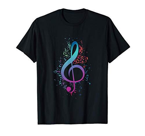 Clef Musician Regalo Nota De Clave De Sol Camiseta