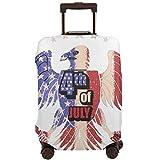 Cubierta Protectora para Maleta Eagle USA Flag 4Th Jully Vector Travel Suitcase Protector XL