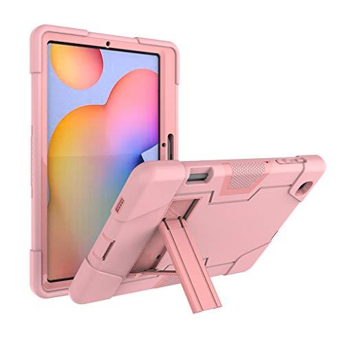 Neecio Funda para Samsung Galaxy Tab S6 Lite 10.4 2020, 3 Layers Funda Protectora con Soporte para S Pen para Tab S6 Lite 10.4 Pulgadas (SM-P610 / SM-P615) (Rose Gold)