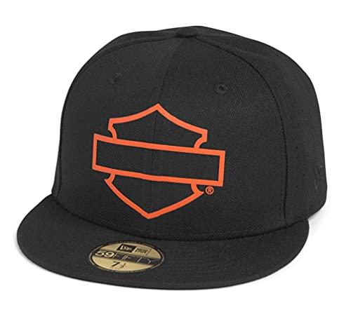 Harley-Davidson Unisex Open Bar & Shield Logo 59Fifty® Baseball-Cap Biker Kappe Motorrad Cappy Basecap für Damen, Herren, XL