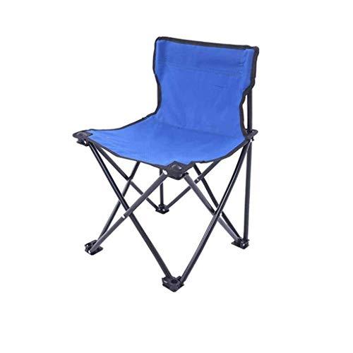 Portable Camping Chai R Loisirs en Plein Air Pliant Camping Chai Haut Dossier Directeurs Porte-Gobelets Siège De Voyage (Color : Blue, Size : L1)