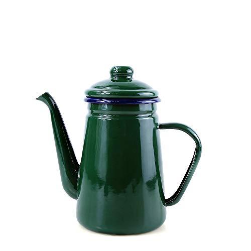 Camping Outdoor Kaffeekanne, handtropfende Emaille, Tee- / Kaffeekanne, Wasserkocher, Öl- und Essigspeise