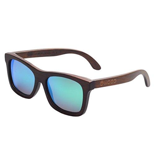 Iwood Gafas De Sol para Hombres Y Mujeres Hechas A Mano De Bambú Gafas De Madera Polarizadas