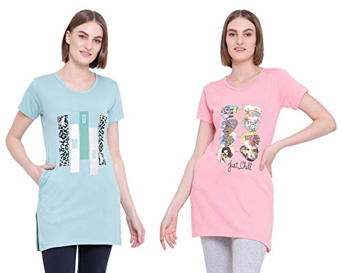 IN Love Girls Cotton T-Shirt(Camel Melange::Dark Pink Melange)(Medium)(2CMTLP770G2G6_M)