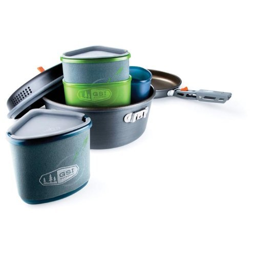 GSI Outdoors Pinnacle Backpacker, Nesting Cook Set, Superior Backcountry Cookware Since 1985