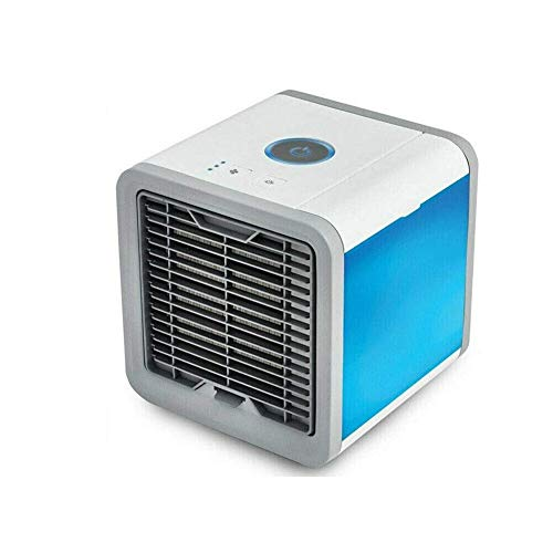 Portable Air Cooler, USB Portable Cooling Air Conditioner, 3 in 1 Mini Mobile Personal Space Cool Air Ultra, Humidifier, Purifier and 7 Colors LED Night, Desktop Cooling Fan for Home, Office Air Coole