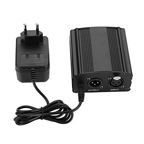 Ymiko Alimentatore Mini Alimentatore Phantom 48V a 1 Canale con Adattatore di Alimentazione per Microfono a condensatore(ER)