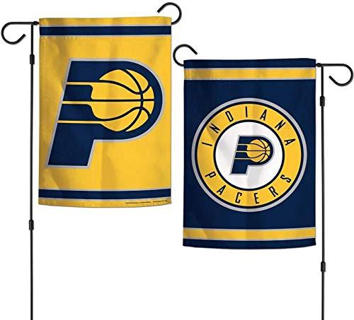 Bernice Winifred NBA Indiana Pacers Flag 12x18 Bandera de 2 Caras Estilo jardín, Colores del Equipo, Talla única
