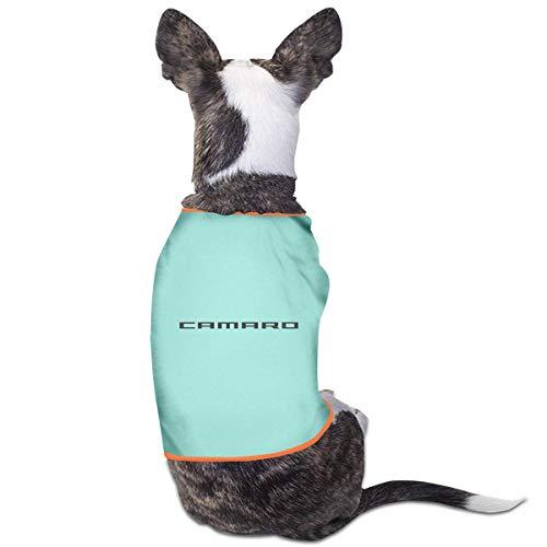 maichengxuan Haustier-Kleidung T-Shirt Camaro Logo Hund Katze Tank Top Welpen Kostüme Haustier Mäntel Gr. S, himmelblau
