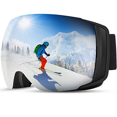 [2019 Nuevo] TDW Gafas de Esquí Anti-niebla, Lente magnética con Hebilla...