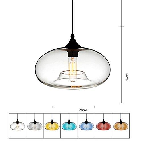 Kroonluchter vintage industriële stijl creatief glas persoonlijkheid moderne eenvoudige Nordic Cafe restaurant bar plafondlamp E27