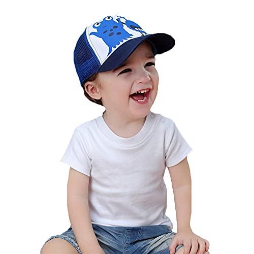 ZHANGYAN Gorra de béisbol de Visera Solar de ala Ancha para niños, Sombrero de Sol Transpirable de Malla, UPF 50+ Tapa de Visera Sol, 0-8 años (Color : Blue, Size : 44-46cm/17.3-18.1in)