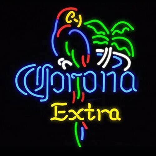 Amymami LED Light Beer Spring new work Bar Neon Extra Parrot 24in Sign Seattle Mall Corona Pa