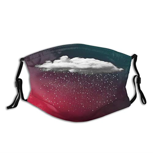 ZZFENG Raining Cloud in The Blue and Red Sky Mouth Cover with 2activated Carbon Filters Piece