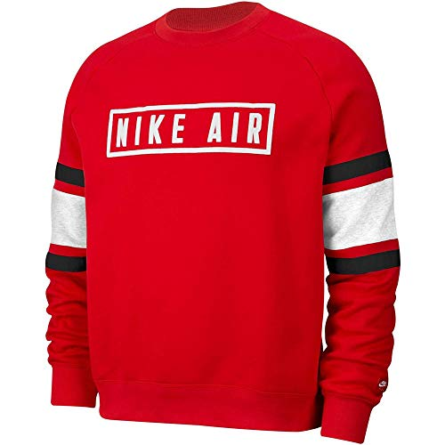 Nike Herren Air Sweatshirt XS rot / weiß / schwarz / weiß