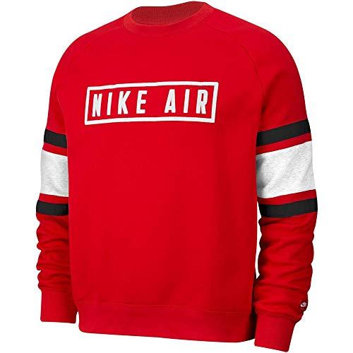 Desconocido Unbekannt M NSW Nike Air Crew FLC Long Sleeve Top Herren L rot/weiß/schwarz/weiß