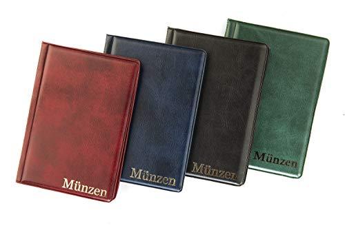 MC.Sammler Münzenalbum Münzalbum Taschenalbum für 48 Stück 10 Euro Münzen (schwarz)