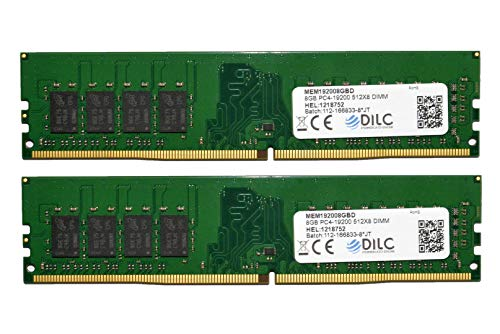 DILC RAM Dimm DDR4 16 GB (2 x 8 GB) 2400 MHz PC4-19200 (288 pines) Single Rank 512 x 8 Memoria para ordenador de sobremesa